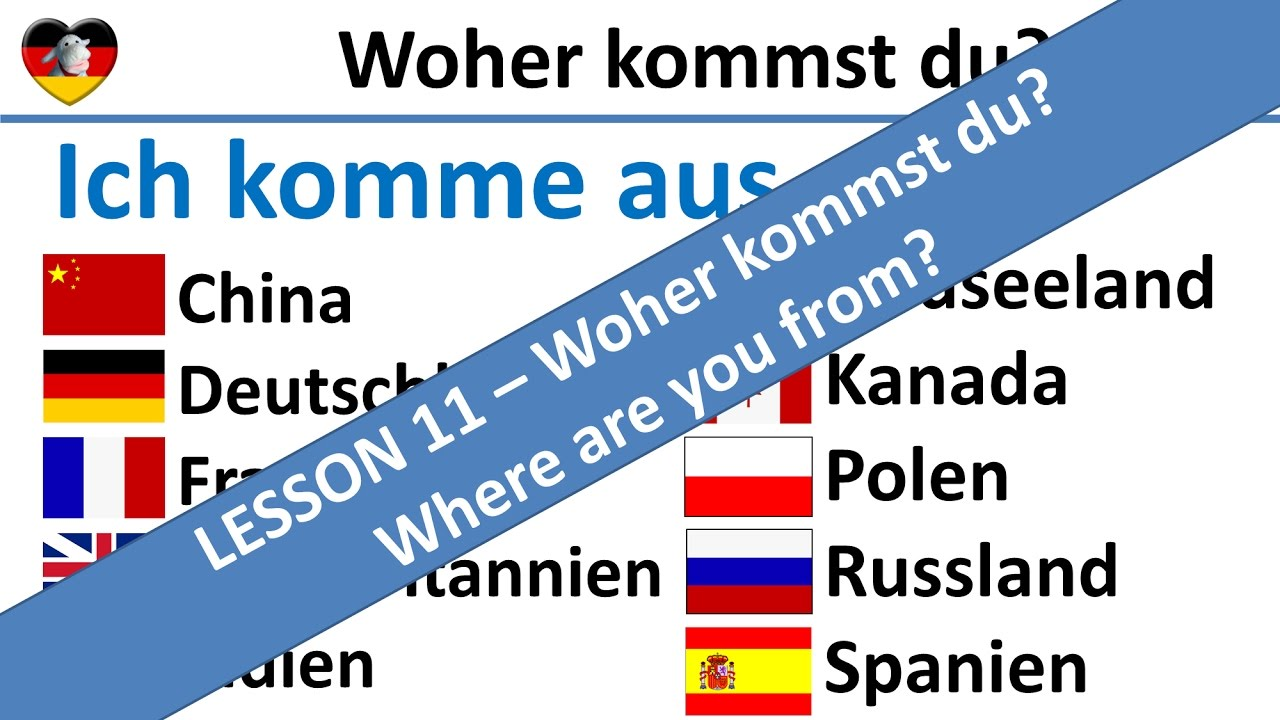Woher Kommst Du Where Are You From Learn German Lesson 11
