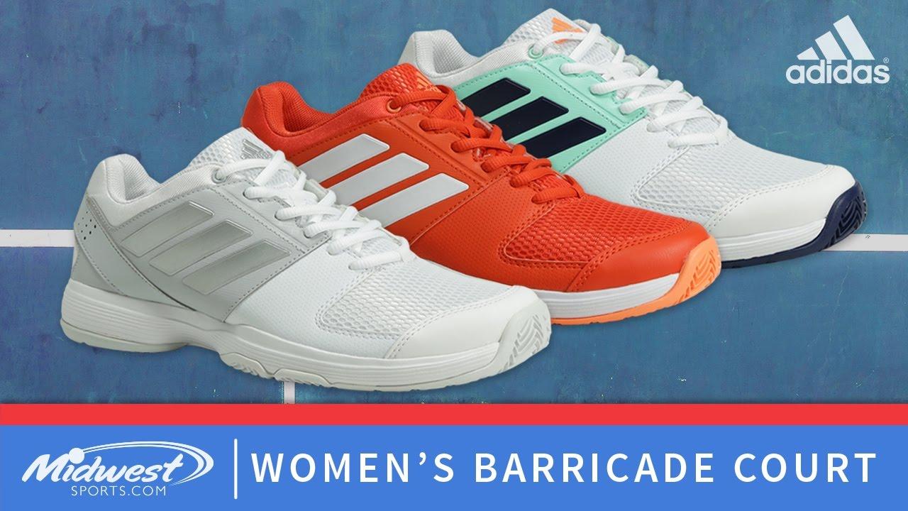 adidas Women's Barricade Court - YouTube