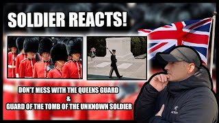 Sentinels of the Tomb of the Unknown Soldier & Queen's Guards (Soldier Reacts)