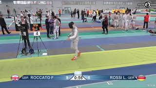2018 1234 T256 M F Individual Halle GER European Cadet Circuit YELLOW ROSSI GER vs ROCCATO GBR