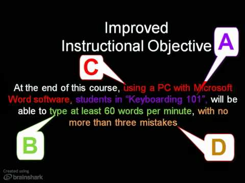 how to write teaching objectives