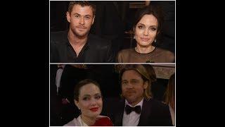Angelina Jolie beams next to Brad Pitt look-alike Chris Hemsworth
