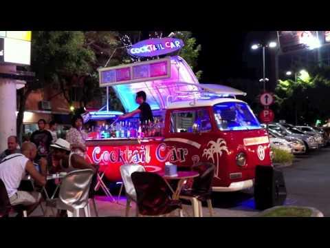 Volkswagon Vw Combi Van Cocktail Bar Car Pattaya