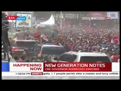 Narok residents excited to see Raila as he exits Narok stadium #MadarakaDay2019