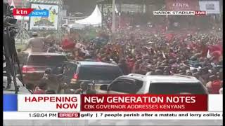 Narok residents excited to see Raila as he exits Narok stadium #MadarakaDay2019