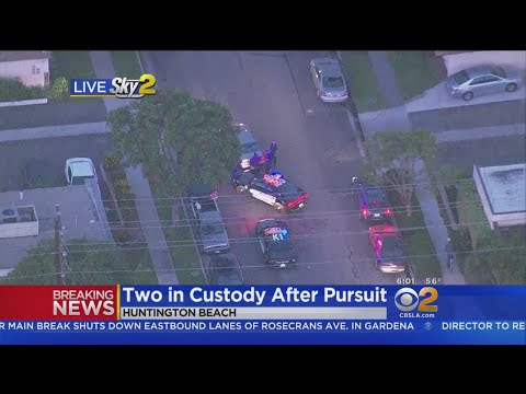 2 In Custody After Pursuit Of Stolen Car Ends In Huntington Beach