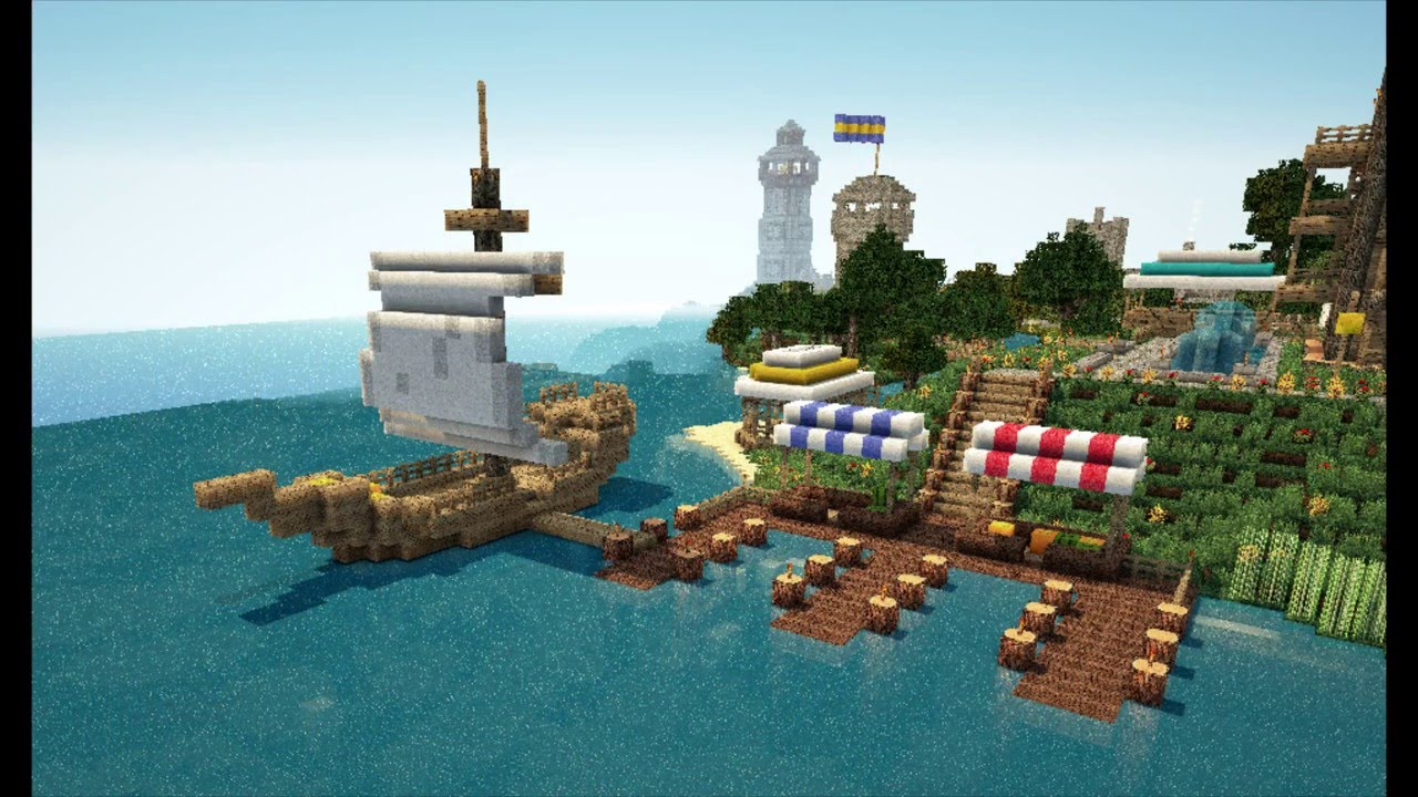 Minecraft bauideen deutsch hafen ua youtube for Bauideen minecraft