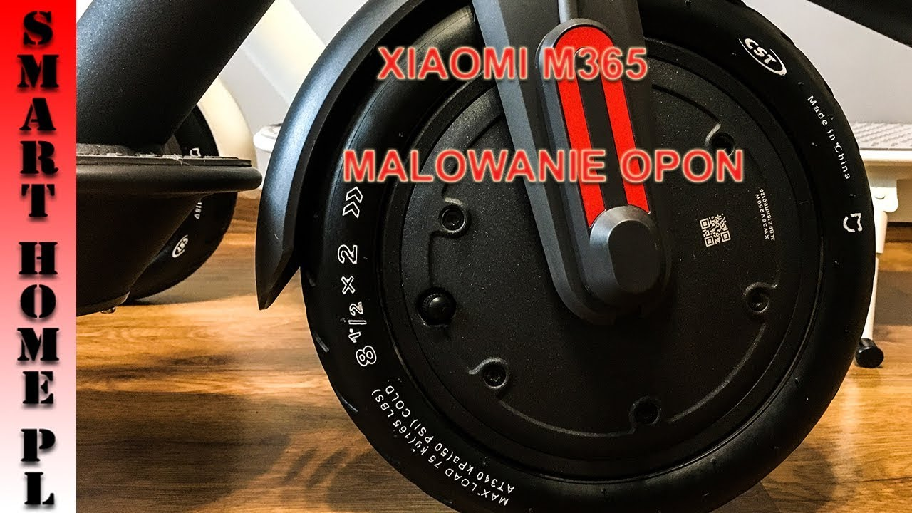HULAJNOGA XIAOMI M365/PRO-MALOWANIE OPON OD A DO Z