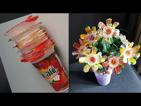 Kerajinan Tangan Yang Tak Terduga Dari Gelas Plastik Diy Interesting Flowers Youtube