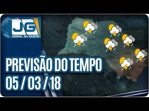 Previsão do Tempo - 05/03/2018