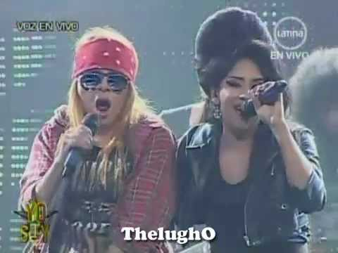 "Yo Soy Axl Rose y Amy Winehouse ""Sweet Child O'Mine"" (06/08/2012) – Yo Soy 2da Temporada"
