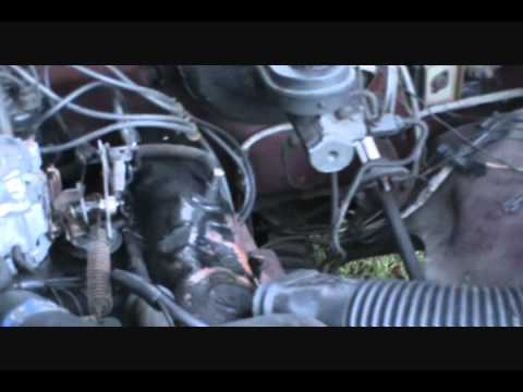 Dodge truck accelerator linkage and air cleaner modification