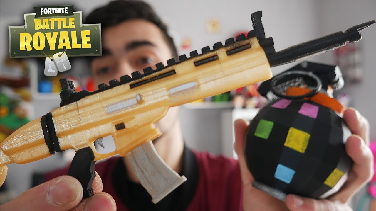 LA SCAR H Amp LA BOOGIE WOOGIE DE FORTNITE IMPRIMS EN 3D