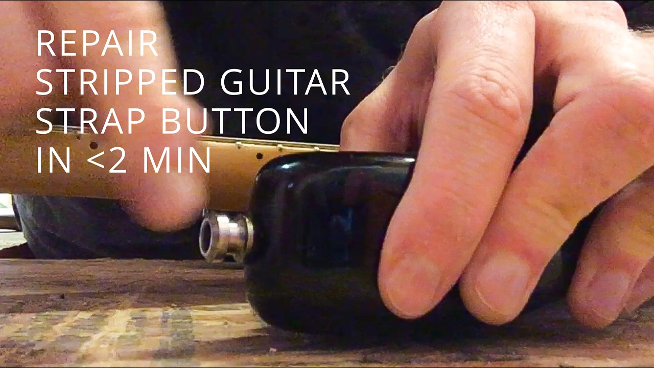 How To Repair A Stripped Strap Button In Less Than 2 Minutes Youtube Les Paul Guitar Input Jack Wiring