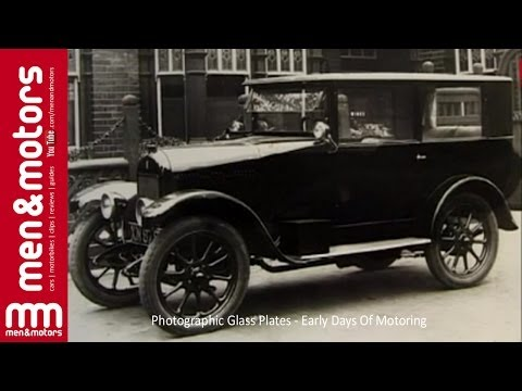 Photographic Glass Plates - Early Days Of Motoring