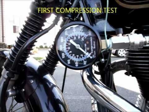 Compression Test of Royal Enfield Motorcycle Engine