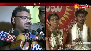 Police Pickets Couple To Get Married In Nizamabad    ప్రాణదీప్- సౌజన్య ప్రేమకథ సుఖాంతం