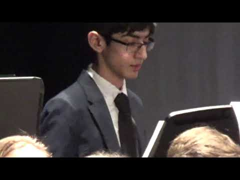 Ziyad plays Percussion at Eastern District Concert Band!