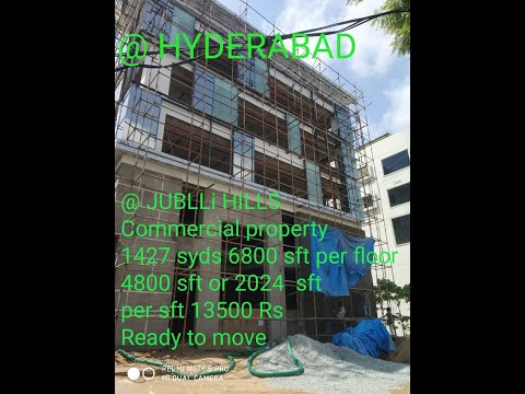 COMMERCIAL SPACE SALE IN HYDERABAD!COMMERCIAL SPACE  JUBLEHI