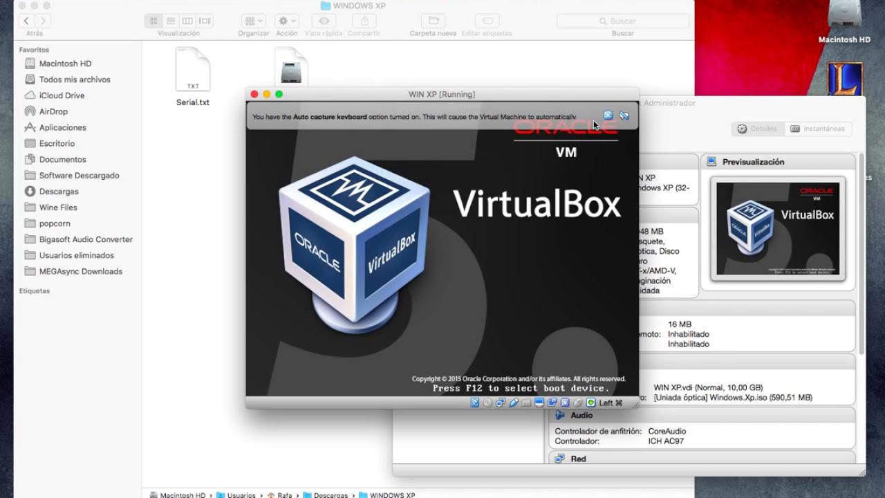 maquina virtual windows xp para mac