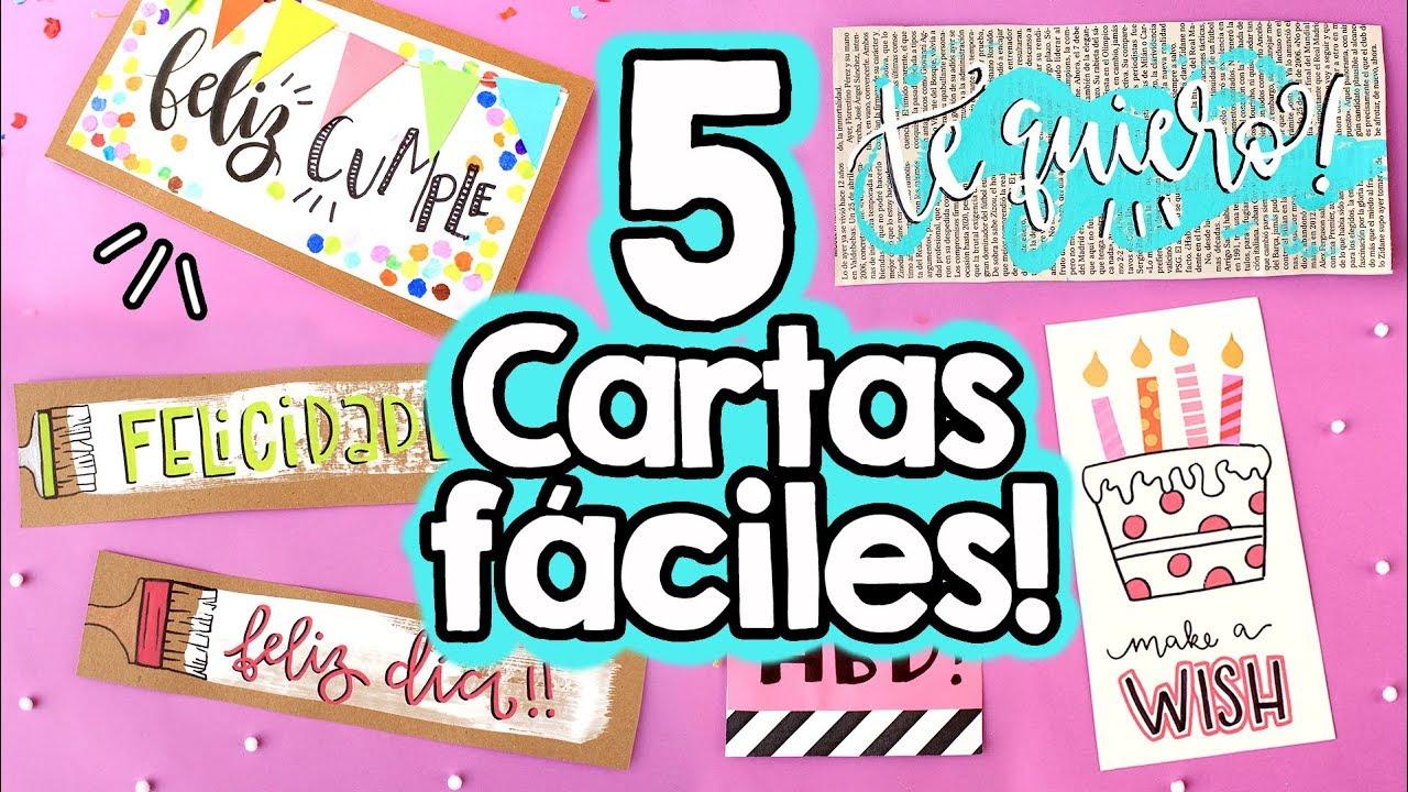5 Cartas Fáciles Para Regalar Barbs Arenas Art