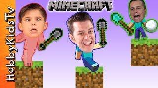 Minecraft SHOVEL Mini Game! HobbyKidsTV