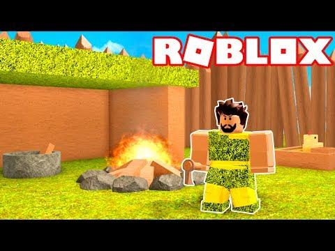 Roblox → SIMULADOR DE VIDA PRÉ-HISTÓRICA (HOMEM DAS CAVERNAS) !! - Booga Booga 🎮