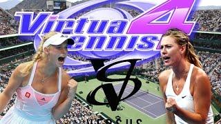 Virtua Tennis 4 GamePlay [PC] C. Wozniacki Vs M. Sharapova