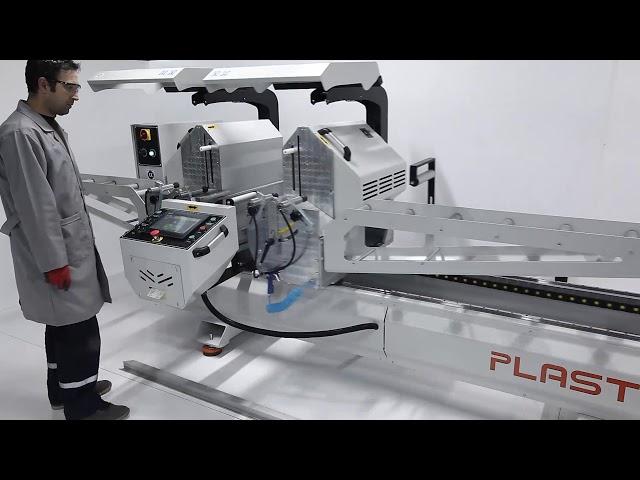 Tronzadora doble cabezal para Aluminio y PVC SC 4000S de Plastmak en Ventytec. Venta de Maquinaria