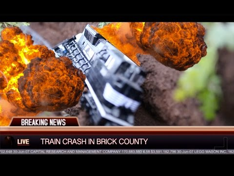 Thumbnail: Lego Brick Railway Explosive Train Crash!!!