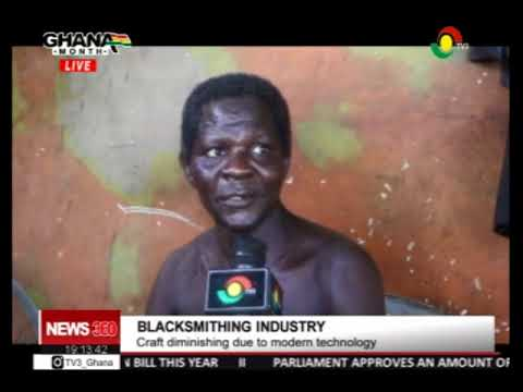 The blacksmithing industry is still alive in Ghana