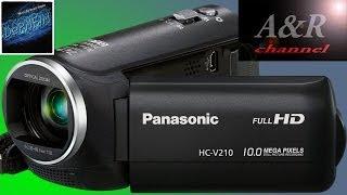обзор видеокамеры Panasonic HC-V210 (с тестом видеосъемки)