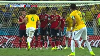 Gol david luiz - brasil x colômbia - quartas de final
