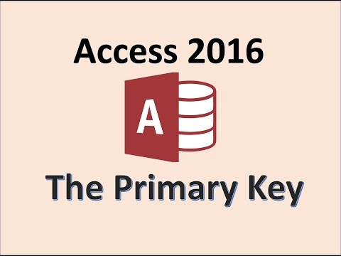 Access 2016 - Primary Key - How To Set A Field As A Primary Key In Microsoft MS Office Database 365