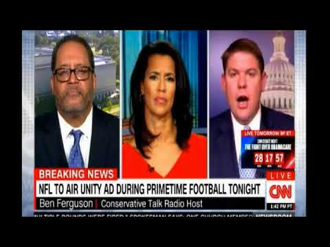 Michael Eric Dyson in full flow as he defends protests during the playing of the National Anthem