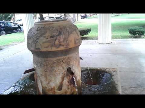 Saratoga Springs, NY upclose - Congress Park mineral spring, Saratoga Springs, NY