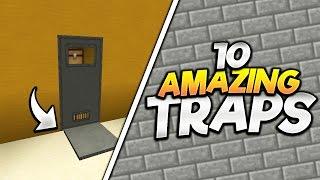 10 AMAZING MINECRAFT TRAPS!