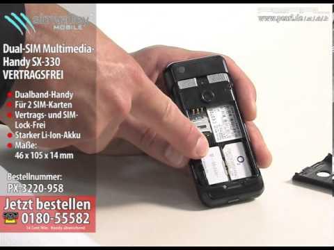 simvalley MOBILE Dual-SIM Handy SX-330 VERTRAGSFREI (refurbished)