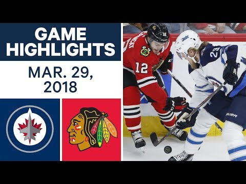 NHL Game Highlights   Jets vs. Blackhawks - Mar. 29, 2018