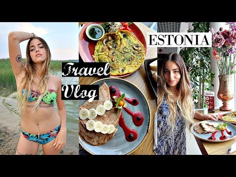 Estonia Travel Vlog // Lake Swimming, Vegan Meetup & KGB Cellars