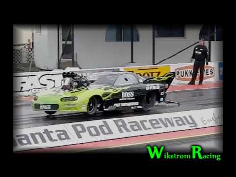 Drag Racing - Patrick Wikstrom | Burnout And Tire Shake At Santa Pod Test Day | High Quality