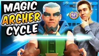 INSANE MAGIC ARCHER BAIT CYCLE DECK! OP Defense Deck  — Clash Royale