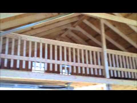24 x 28 Raised Roof Half Loft