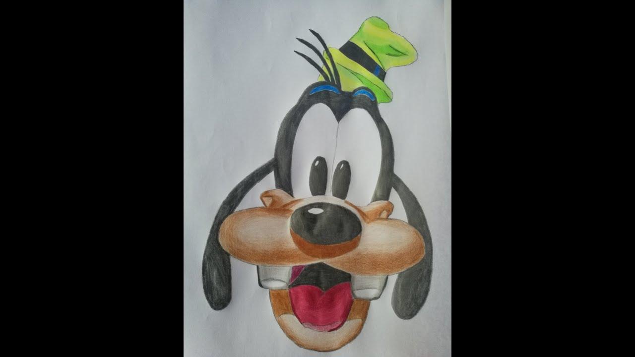 Tuto Dessin Dingo Walt Disney pas à pas. - YouTube  Disney, Walt