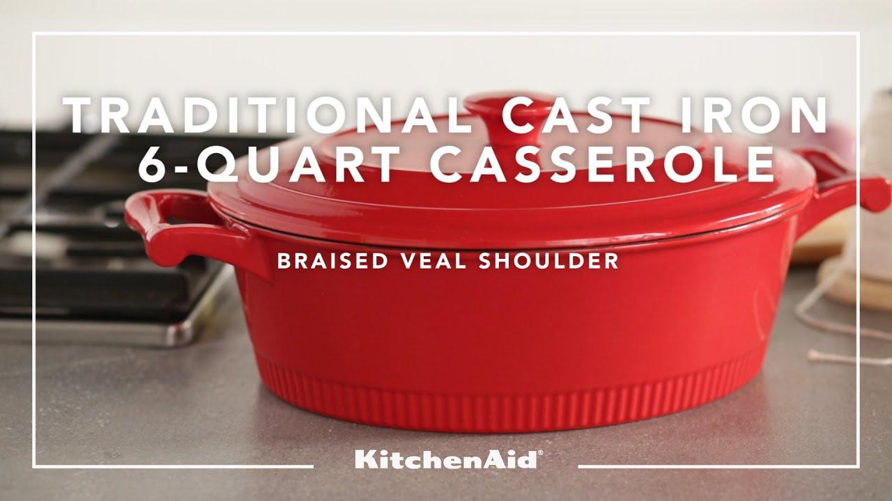 KitchenAid® Kitchenware   Cast Iron 6 Quart Casserole   YouTube