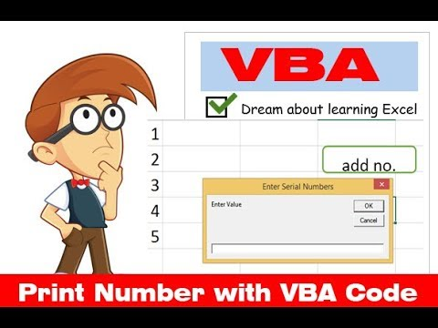 print number in excel with VBA code(Hindi) - ITNIOS