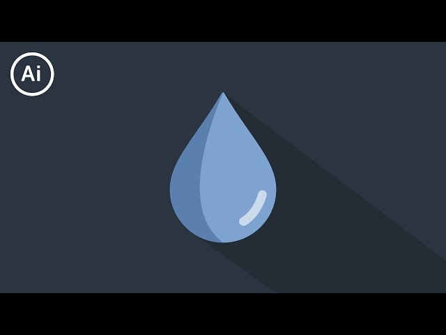 Flat Design Water Drop | Illustrator Tutorial