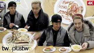 Korean Convenience Store Gourmet Food Challenge feat. Amber Part 1