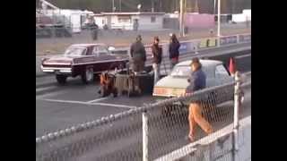 1963 Pontiac Catalina drag race