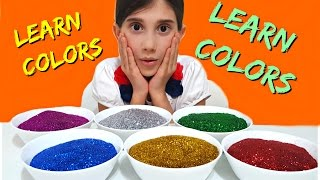 FINGER FAMILY Song for LEARNING COLORS with Glitter Kids Songs